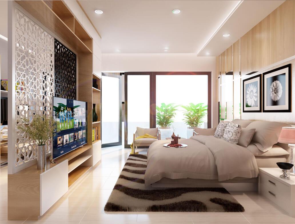 Với một không gian phòng ngủ rộng rãi, với ánh sáng dịu nhẹ sẽ là nơi nghỉ ngơi lý tưởng