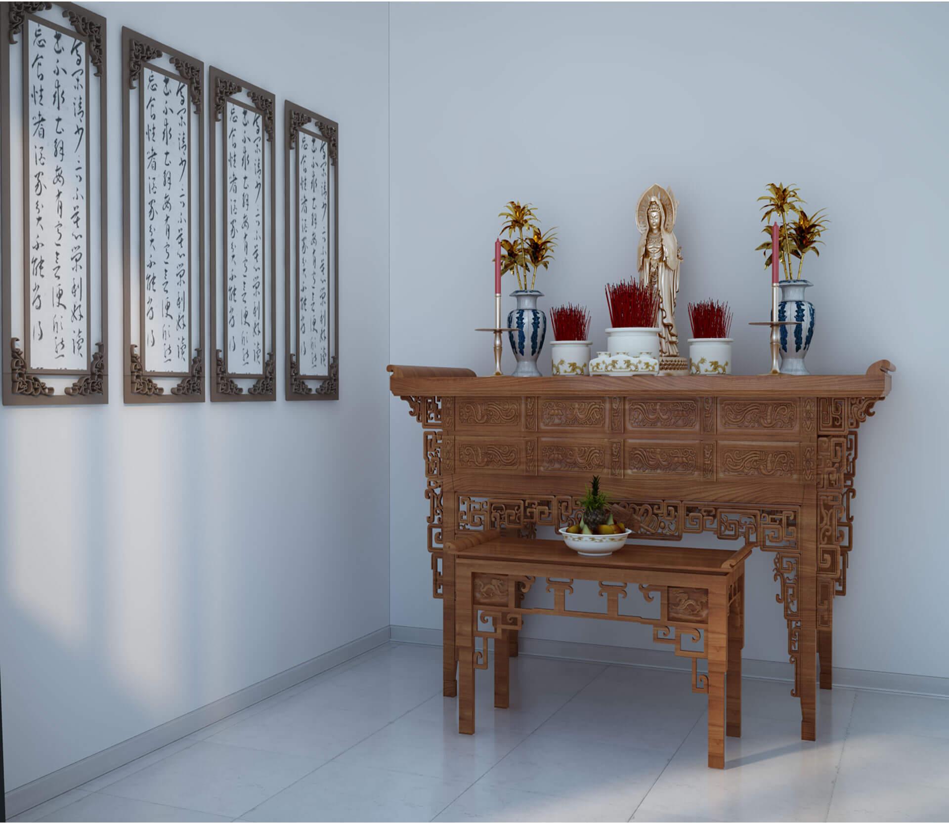 Mẫu phòng thờ đơn giản