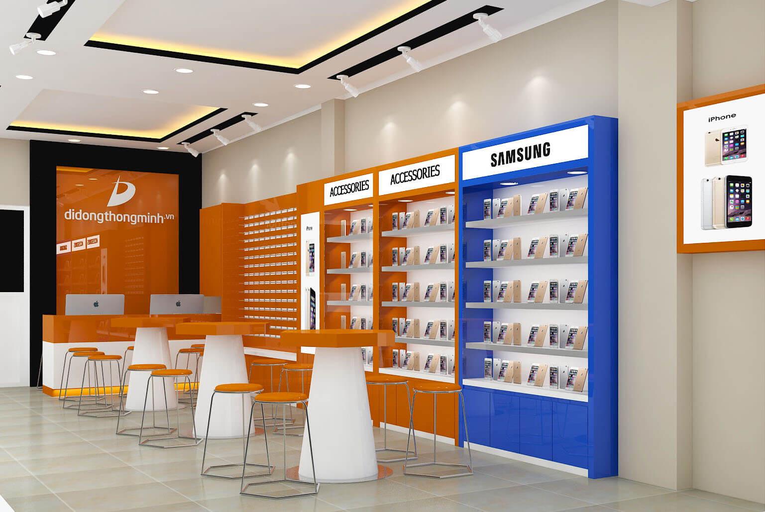 Tủ điện thoại đại diện cho các hãng mà cty phân phối