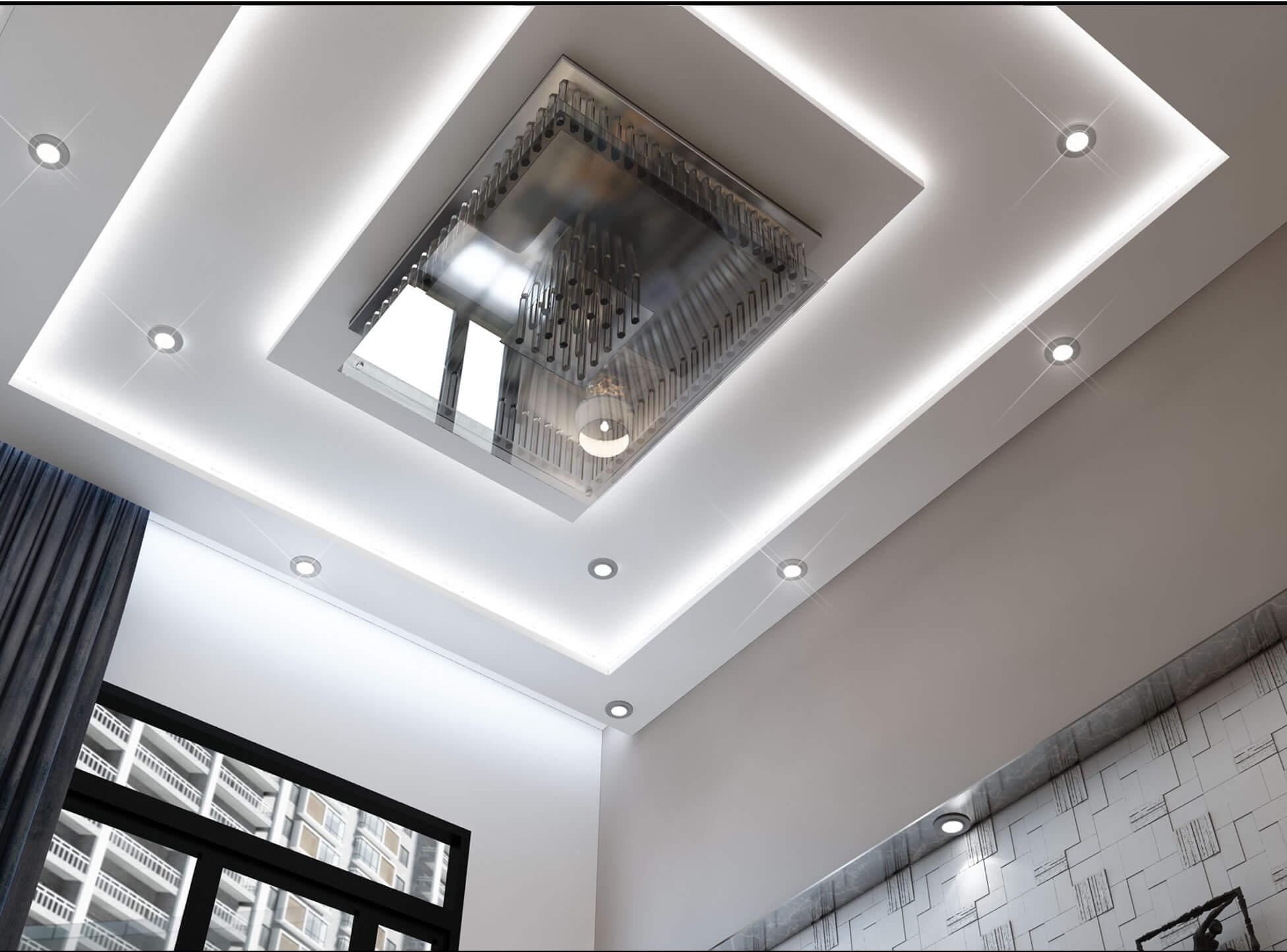 Việc bố trí đèn trần cũng góp phần tạo nên một không gian đẹp