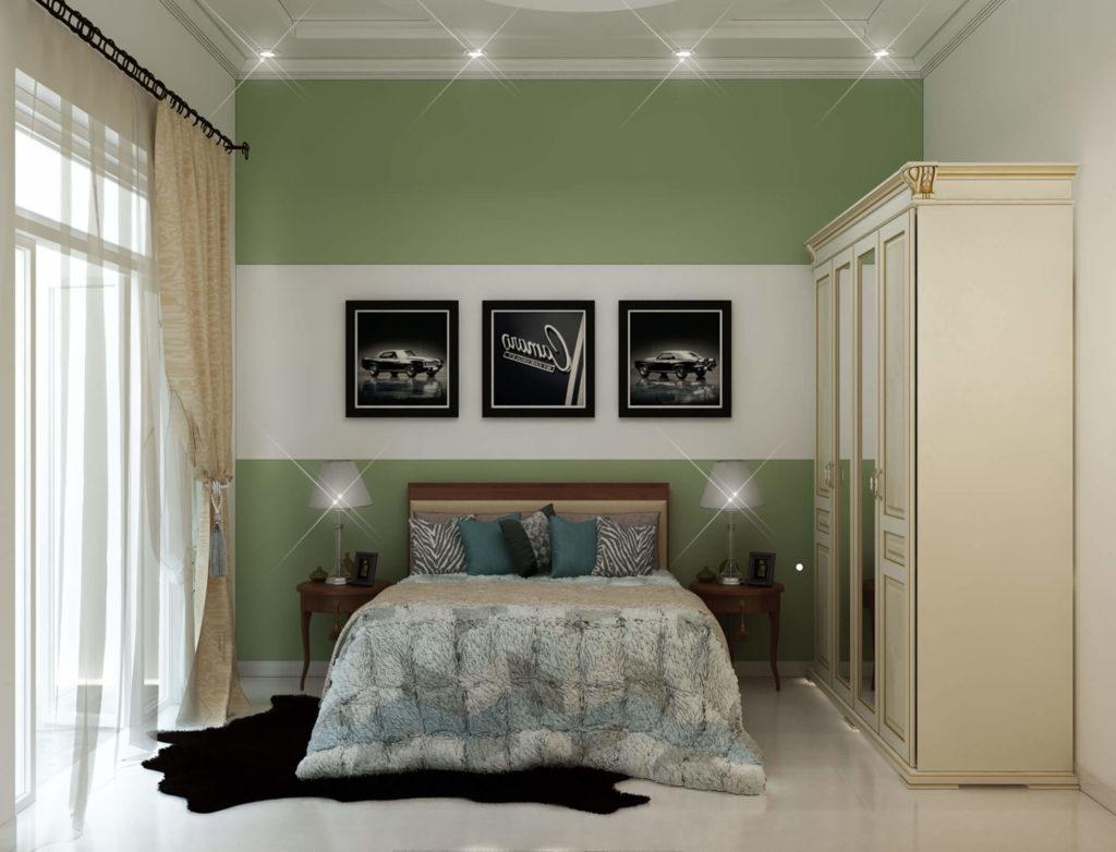 Mẫu phòng ngủ đẹp màu xanh