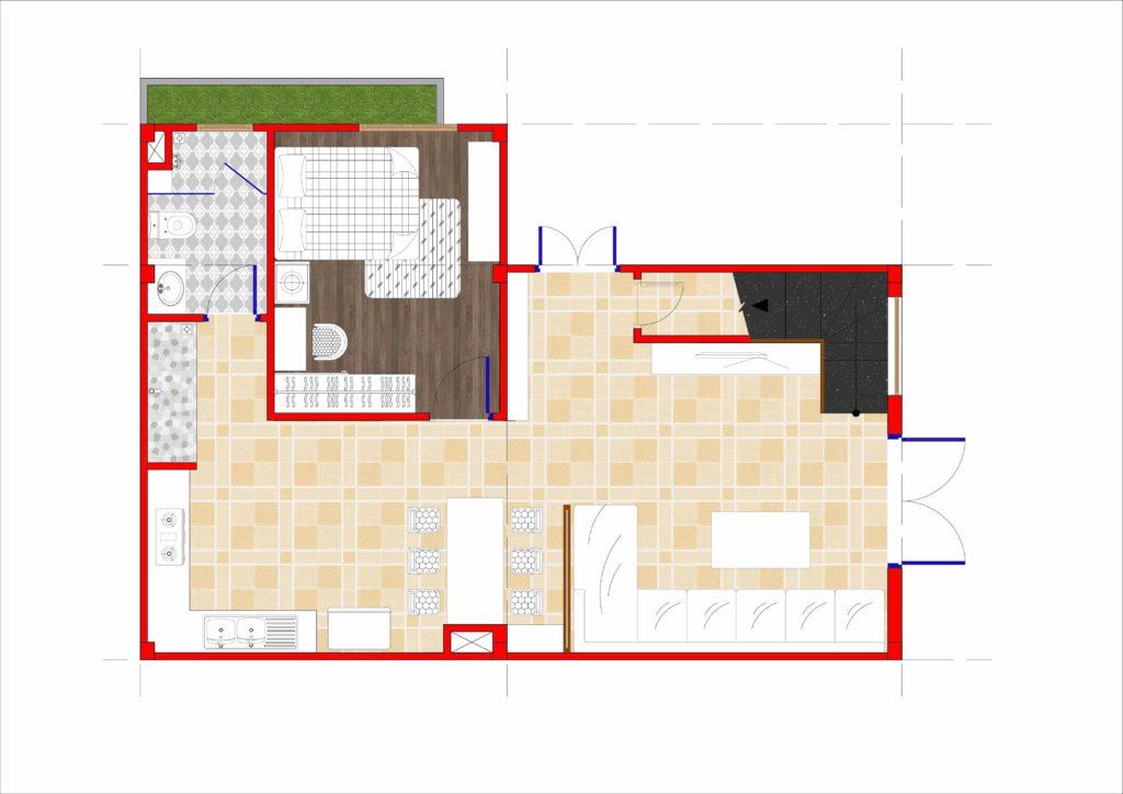 Mặt Bằng Nhà 7x11 3 tầng