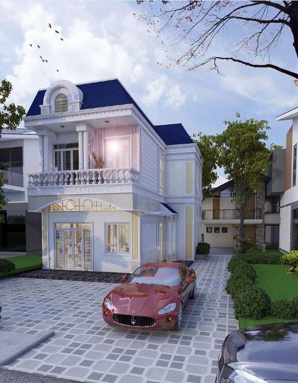 Mẫu Nhà Bán Cổ Điển Đẹp