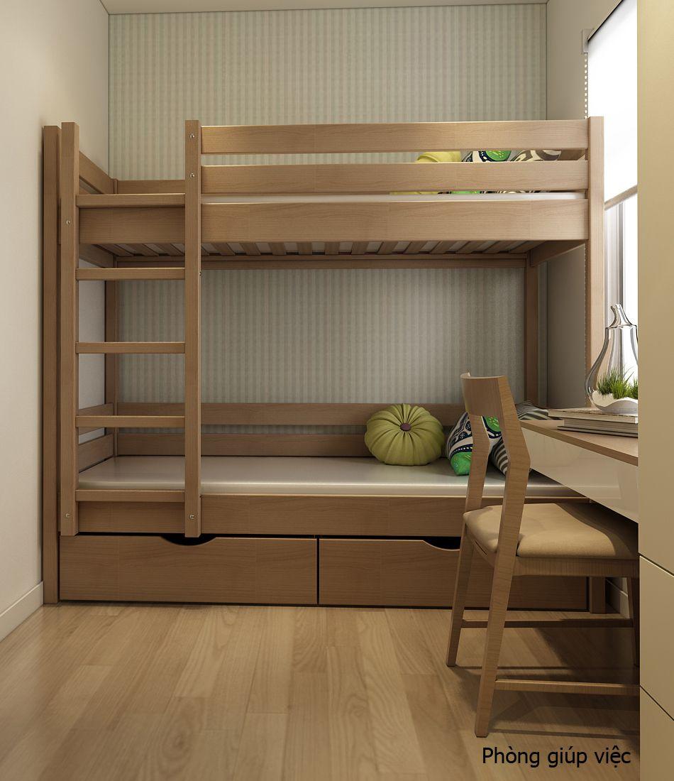 Nhằm tiết kiệm và tận dụng tối đa không gian, Utihouse đã đưa ra giải pháp thiết kế giường tầng với nhiều chức năng thông minh.