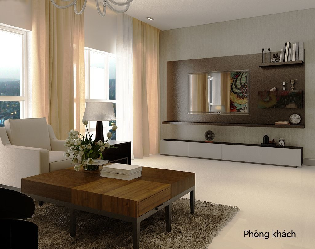 Phòng khách căn hộ đẹp