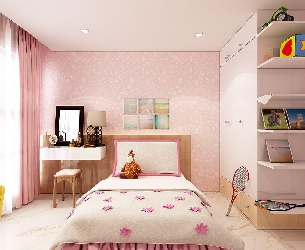Với tông màu hồng kết hợp trắng được phối màu hợp lý, không chỉ thu hút các bé gái mà các bậc cha mẹ cũng vô cùng yêu thích.