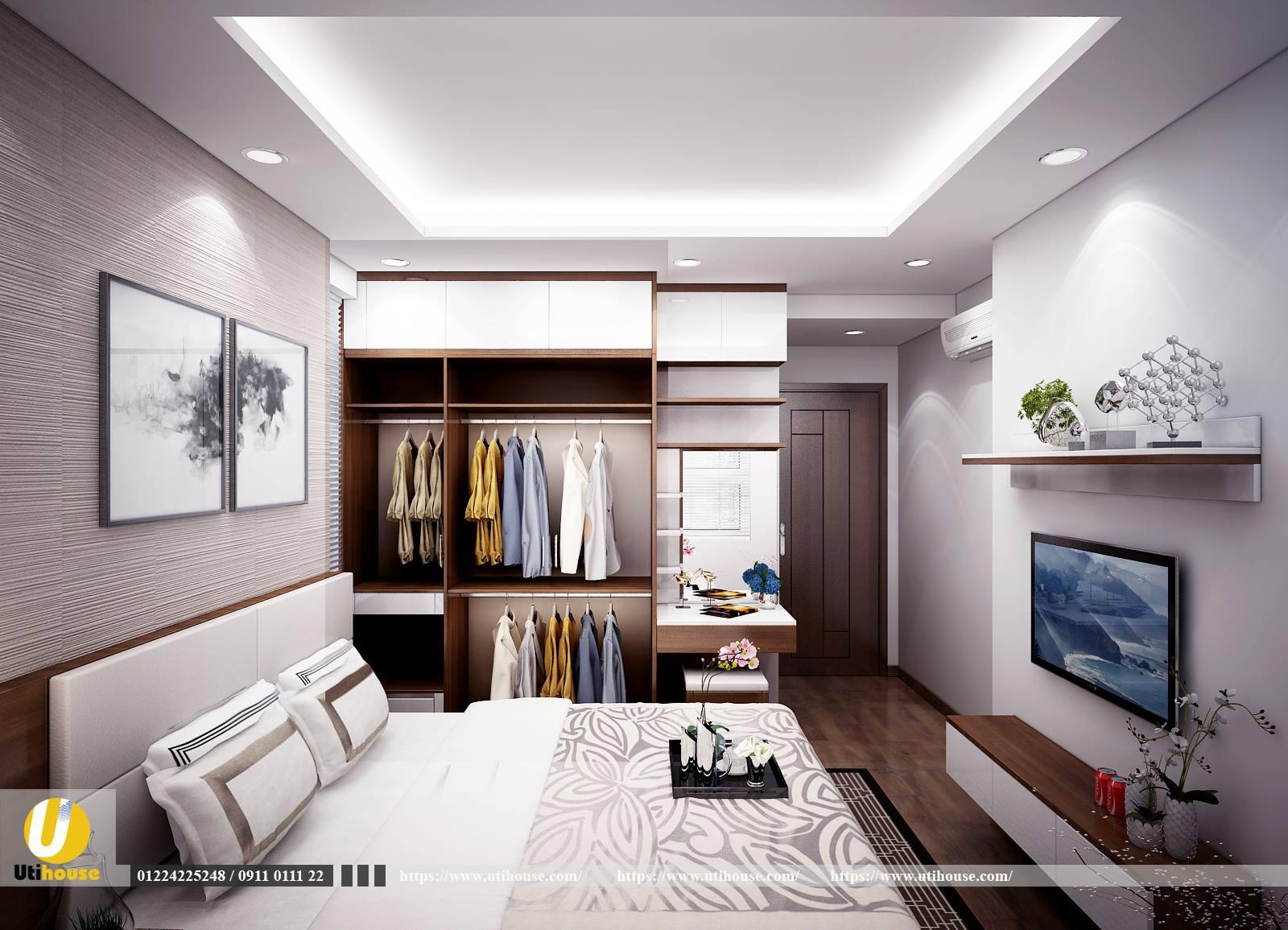 Phòng ngủ master căn hộ richstar Tân Phú