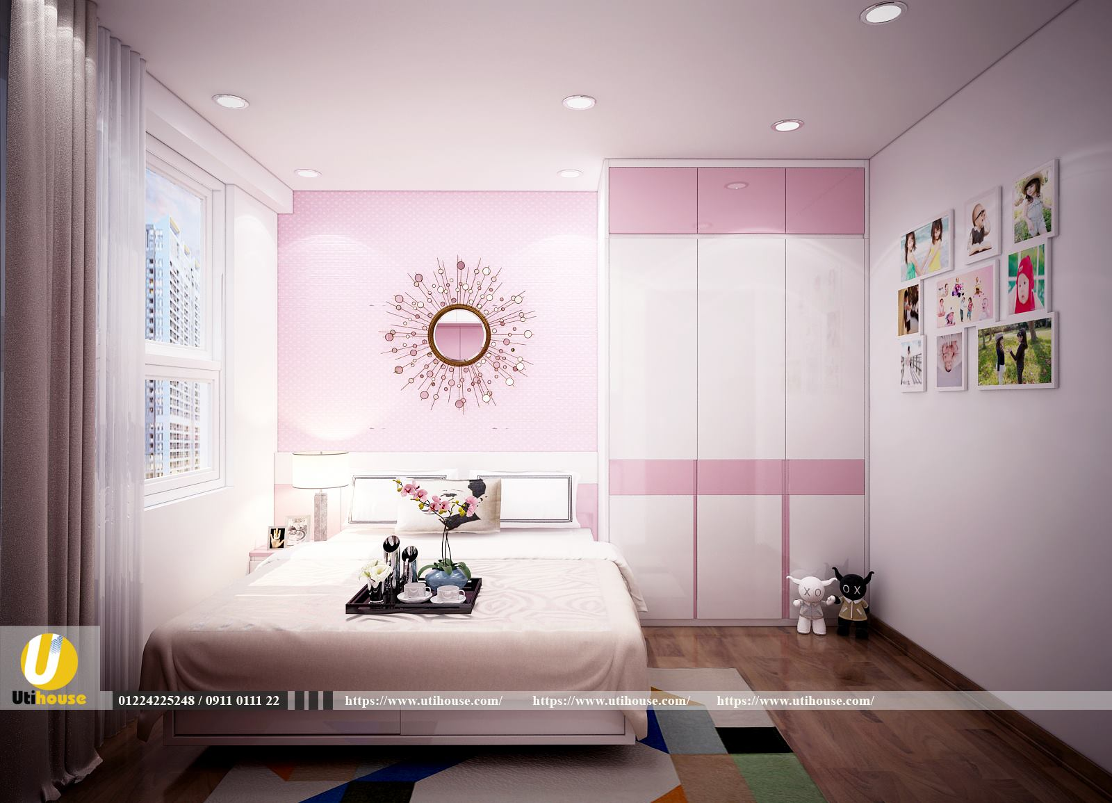 Phòng ngủ con căn hộ richstar Tân Phú