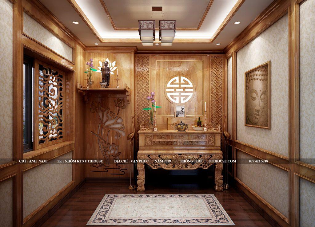 thiết kế phòng thờ khu dân cư vạn phúc