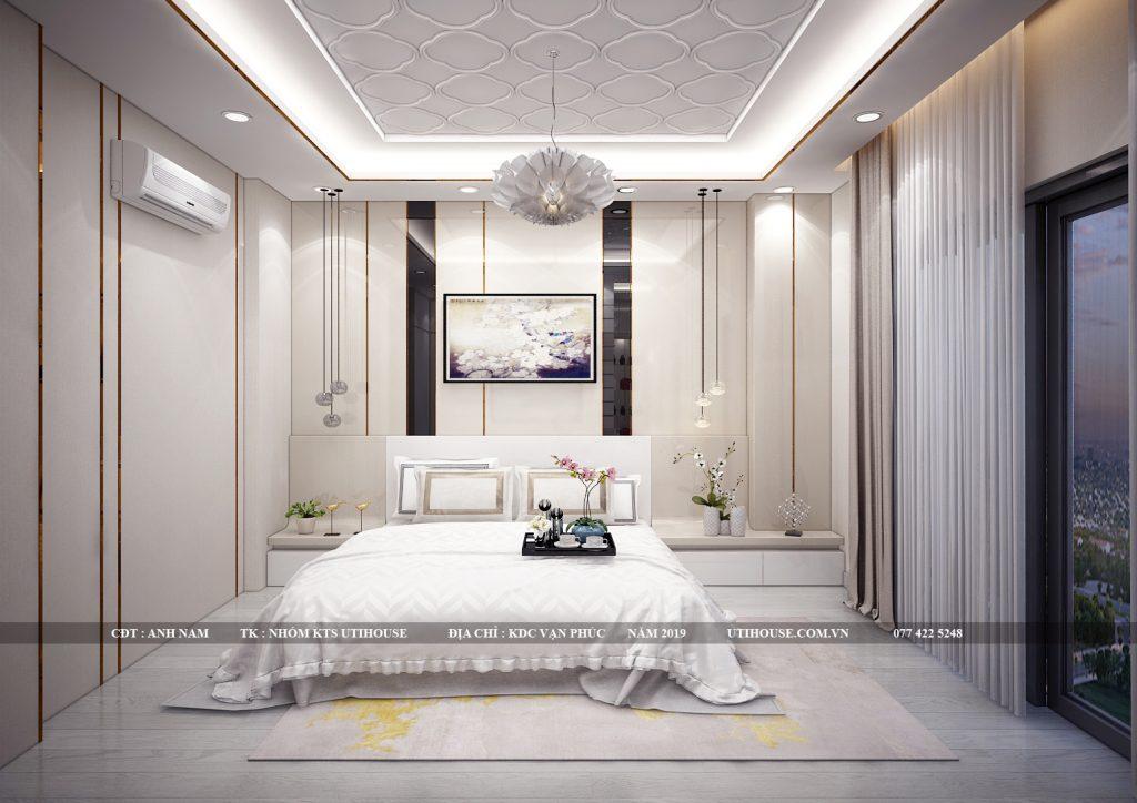 thiết kế phòng ngủ master khu dân cư vạn phúc