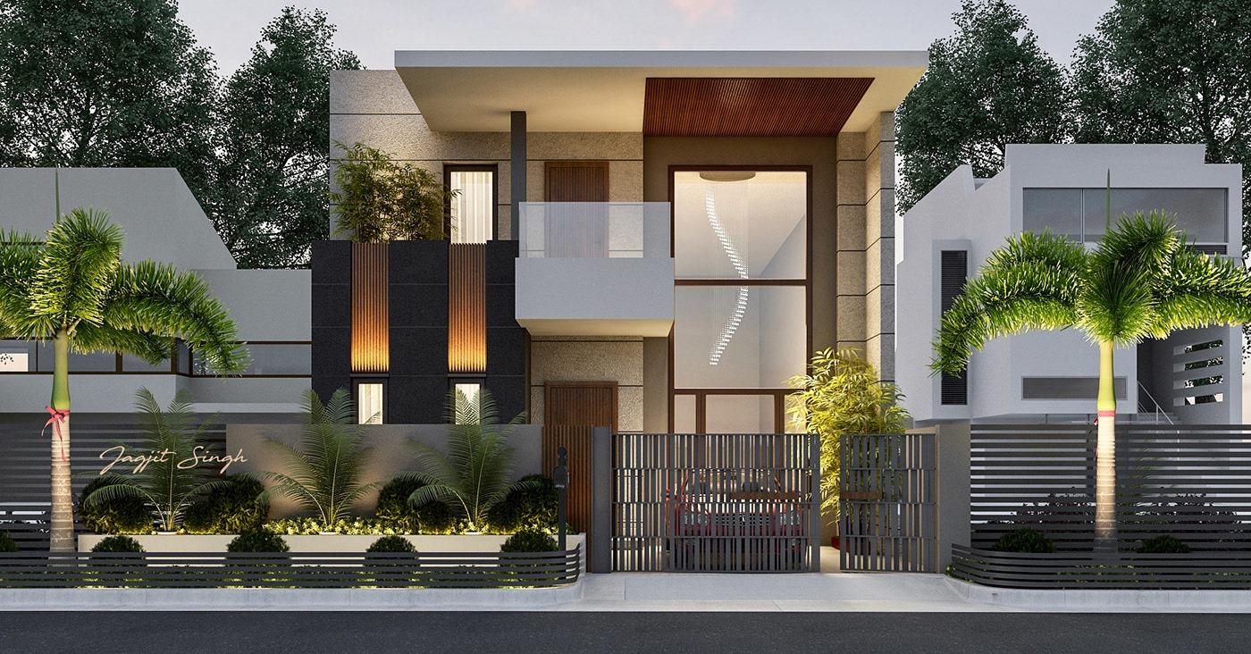 Thiết kế nhà phố hiện đại đẹp lệch tầng