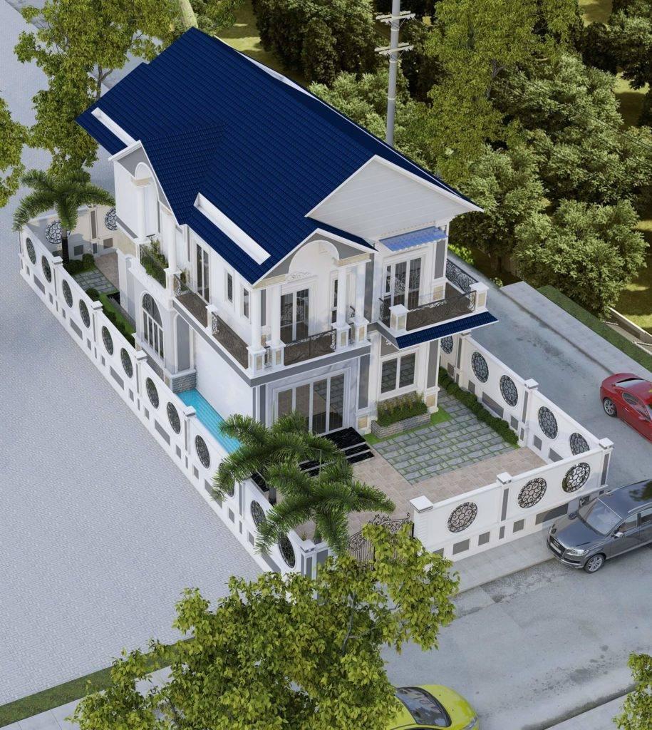 Thiết kế nhà phố hiện đại vuông vức, tối giản