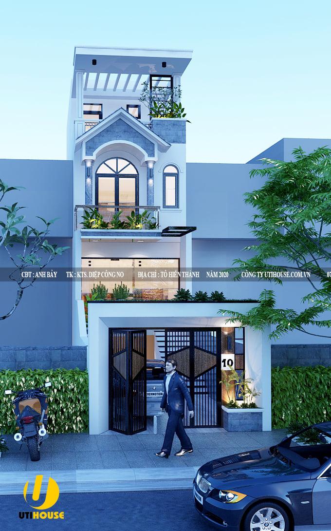 Thiết kế phố hiện đại đẹp, chấm phá bằng chi tiết cổ điển