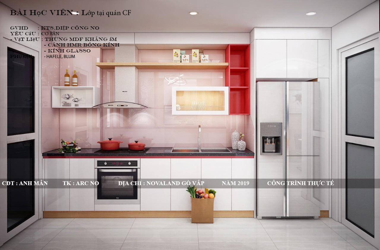Tủ bếp làm từ inox