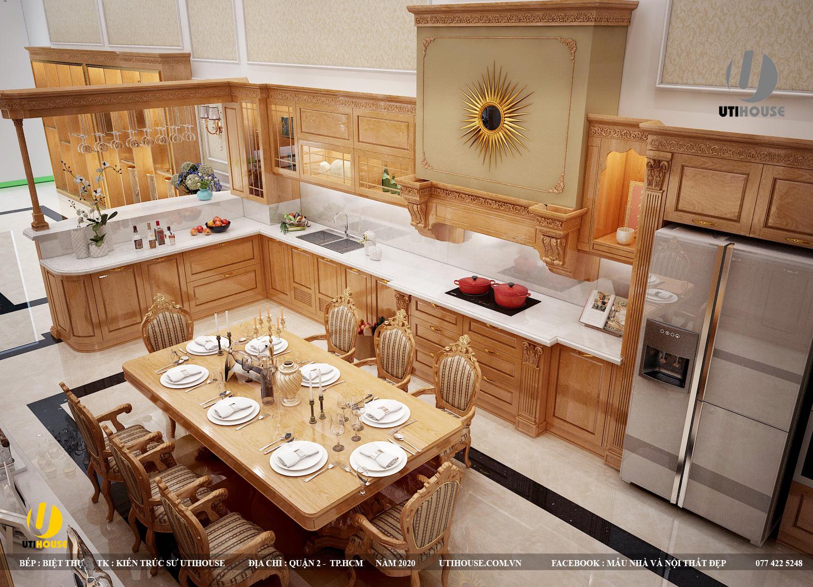 Thiết kế tủ bếp chuẩn phong thủy