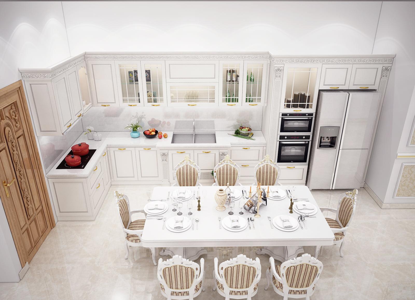 TOP những mẫu nhà ăn và phòng khách đẹp nhất năm 2021
