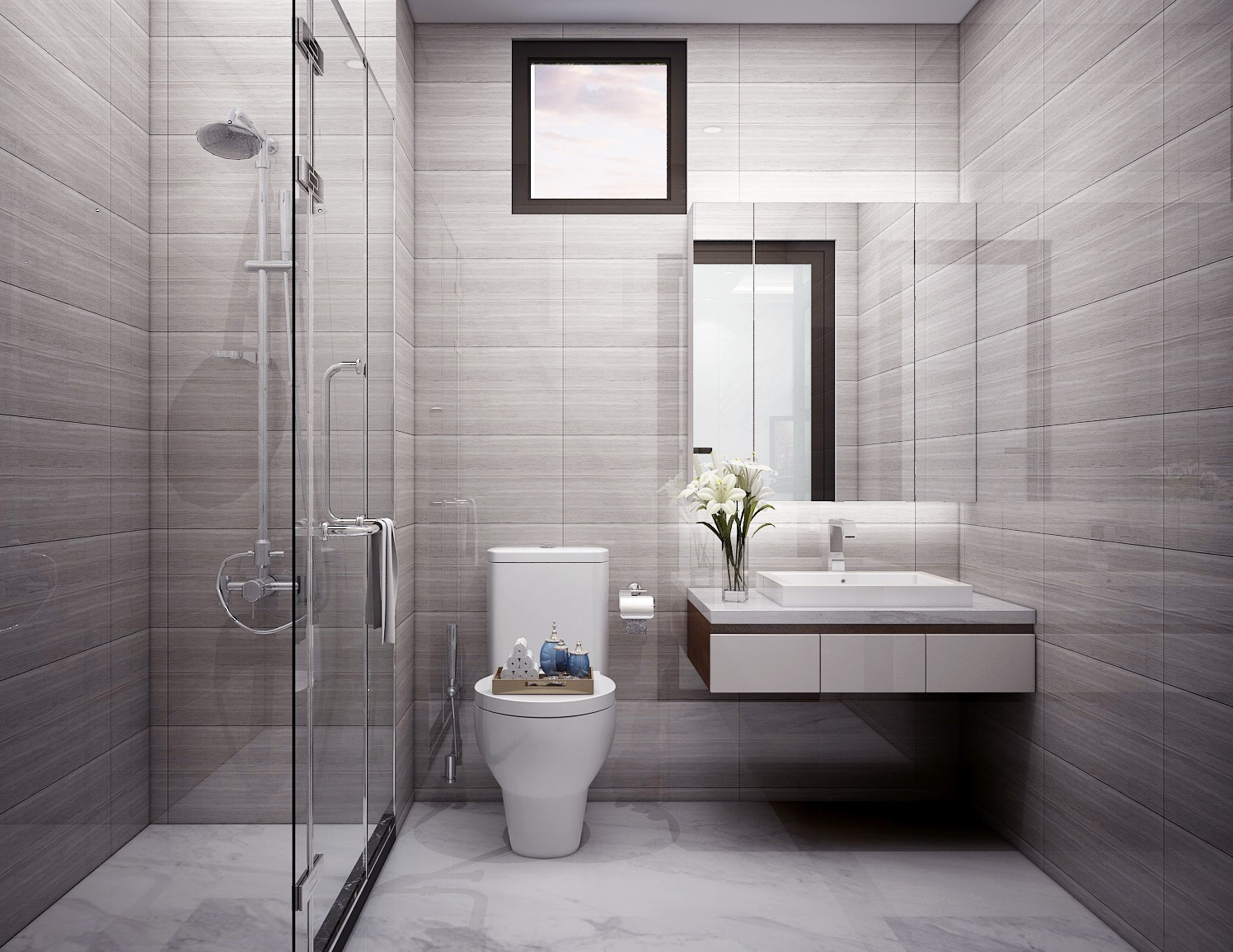 TOP thiết kế mẫu nhà vệ sinh đẹp, trending năm 2021