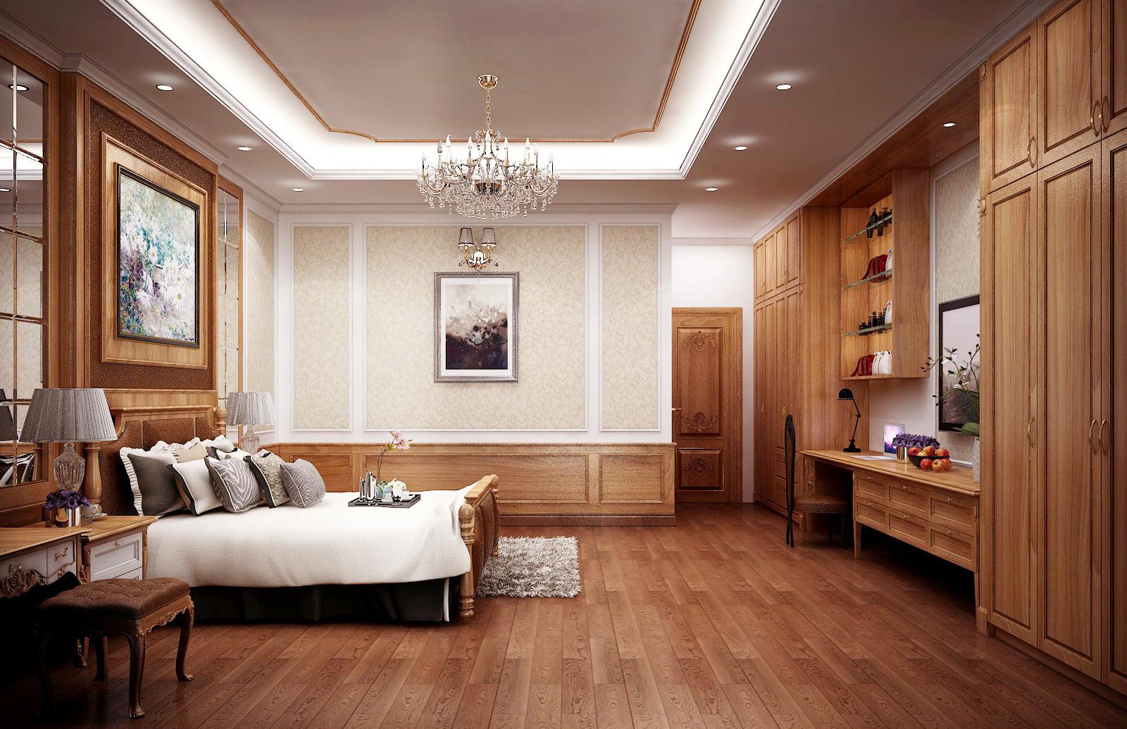 TOP thiết kế phòng ngủ kết hợp phòng làm việc hiện đại