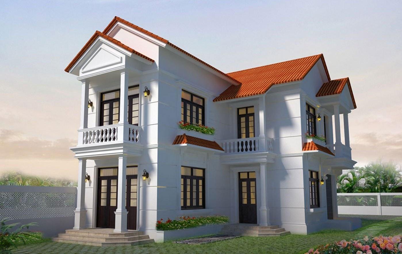 Mẫu nhà phố đẹp hình chữ L