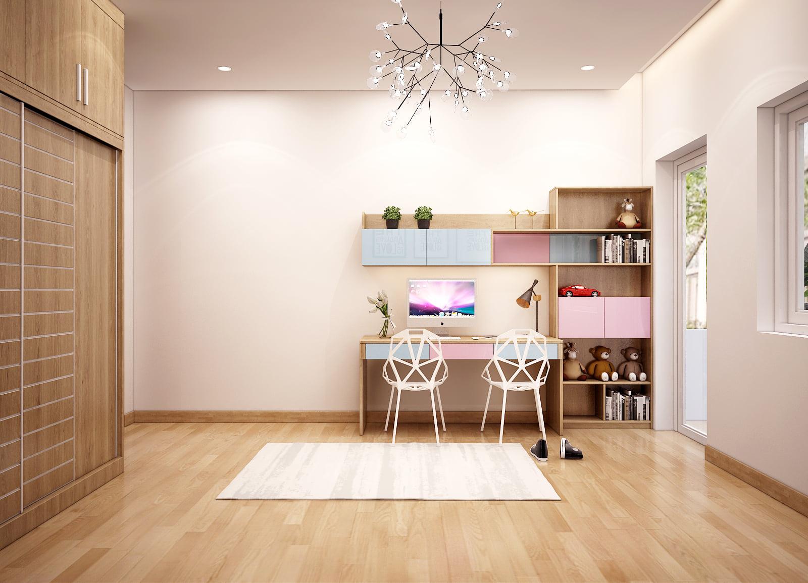 Mẫu thiết kế nội thất tông màu nude