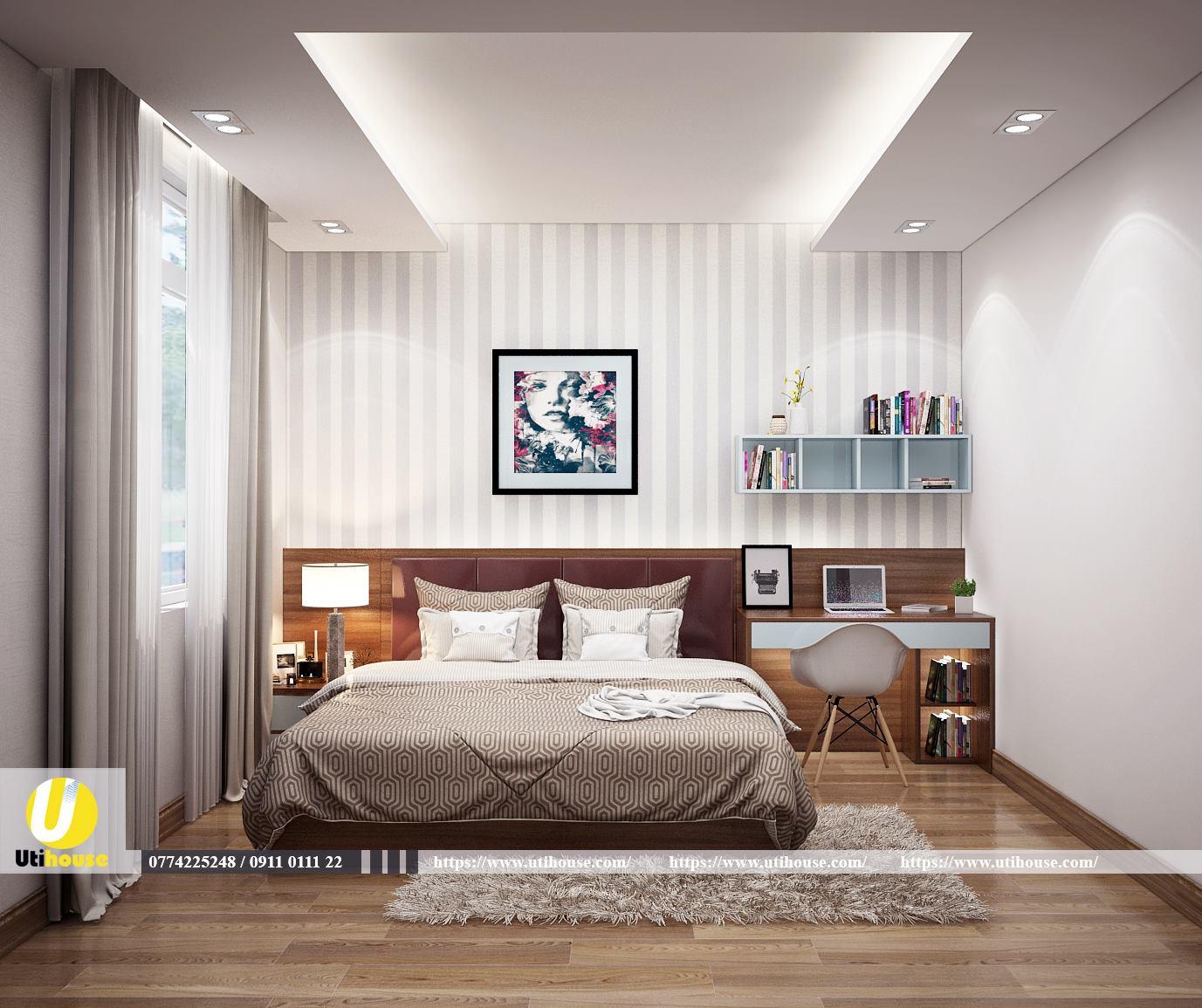 Mẫu thiết kế nội thất chung cư 65m2 năng động trẻ trung