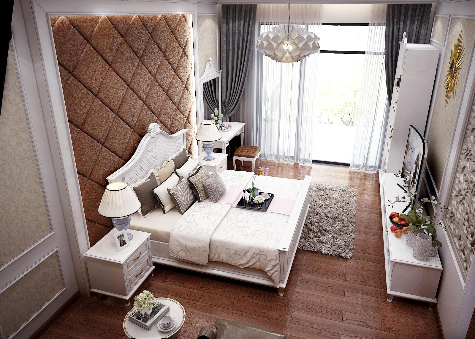 Mẫu thiết kế nội thất chung cư 65m2 2 phòng ngủ đẹp ngất ngây