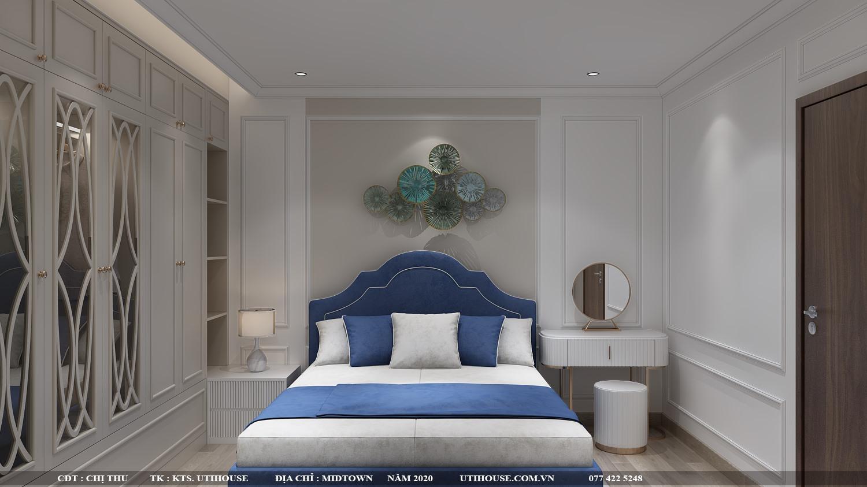 Mẫu thiết kế nội thất căn hộ 65m2 2 phòng ngủ đơn giản