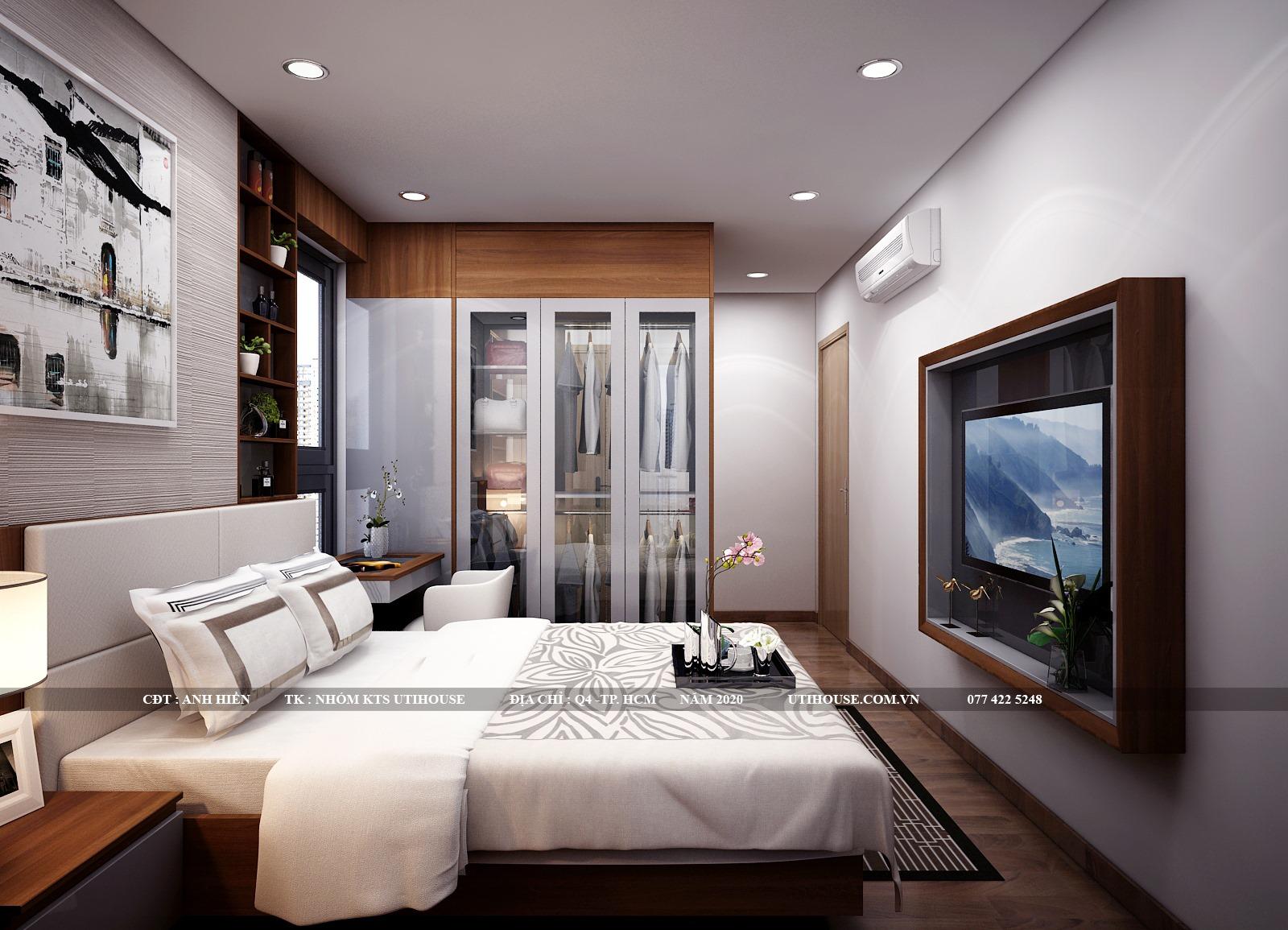 Mẫu thiết kế nội thất chung cư 65m2 hiện đại đẳng cấp