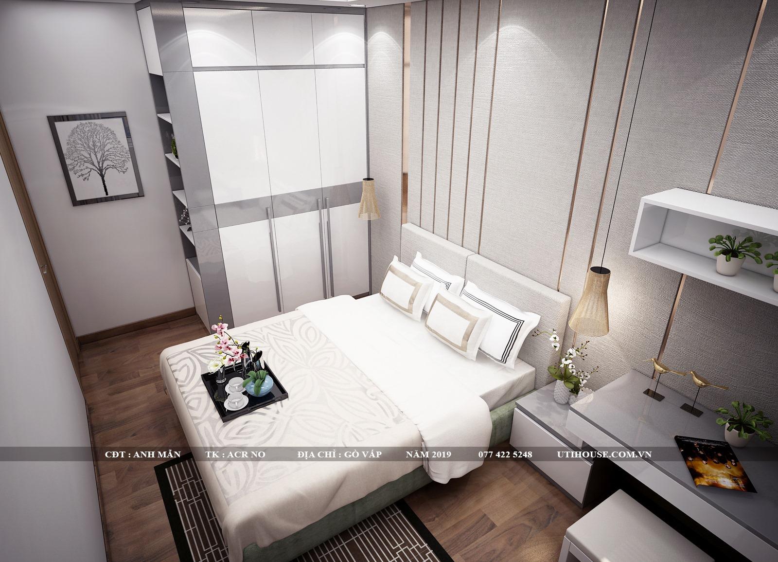 Mẫu thiết kế nội thất chung cư 65m2 gam màu xi măng thu hút