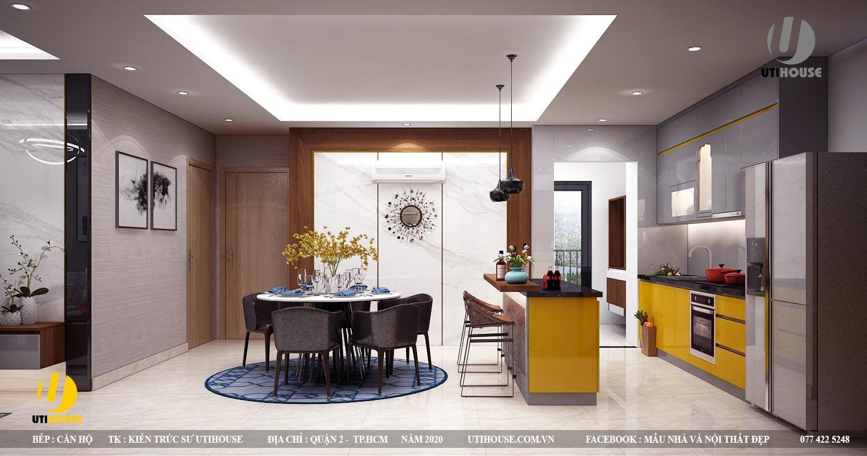 Top 10+ mẫu thiết kế nội thất căn hộ 65m2 2 phòng ngủ đẹp nhất