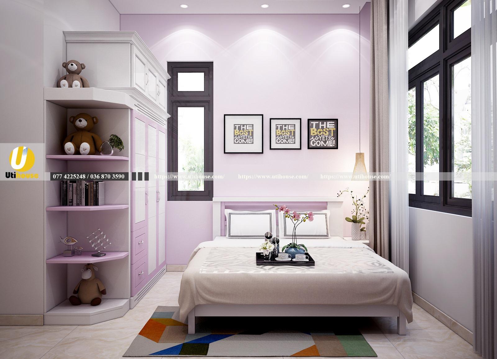 Mẫu phòng ngủ nổi bật nhờ màu sắc