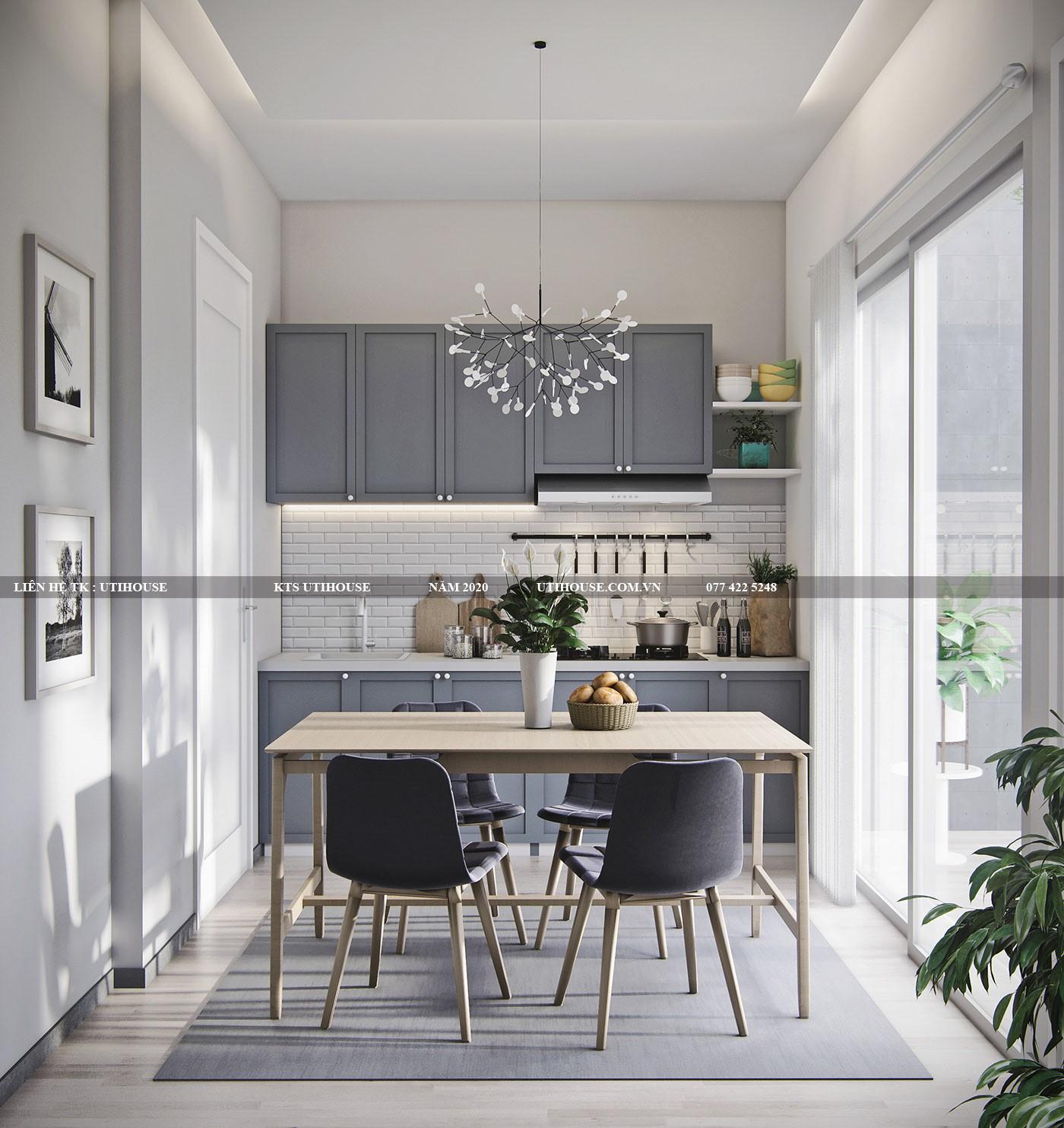 """Thiết kế nội thất nhà phố đẹp bằng cách sử dụng chất liệu """"xanh"""""""