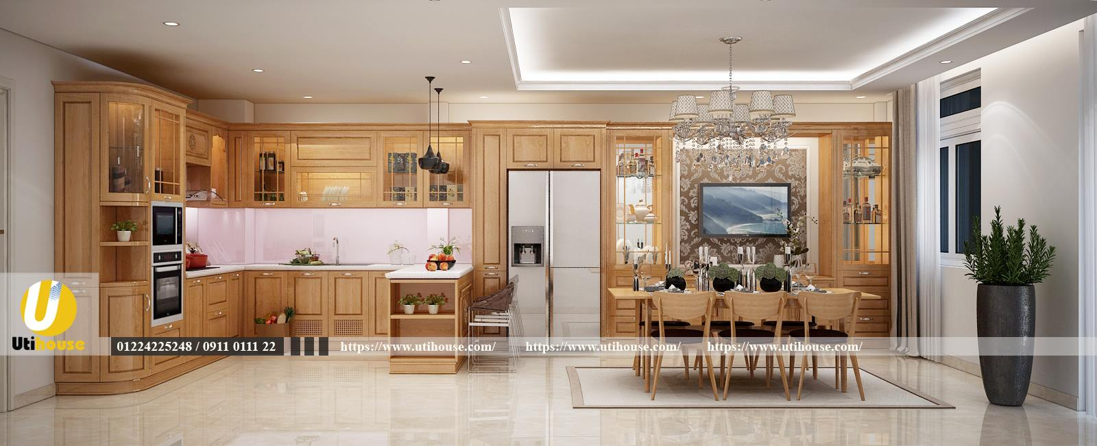 Thiết kế nội thất nhà phố tối giản đường nét, nội thất