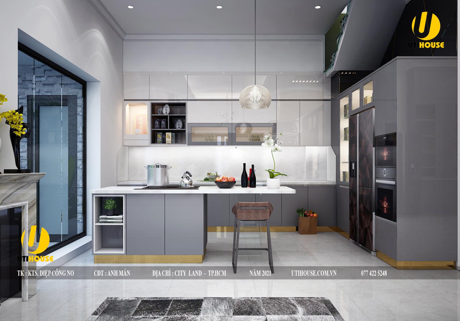 Những mẫu thiết kế nhà bếp đẹp tiện nghi mới nhất 2021