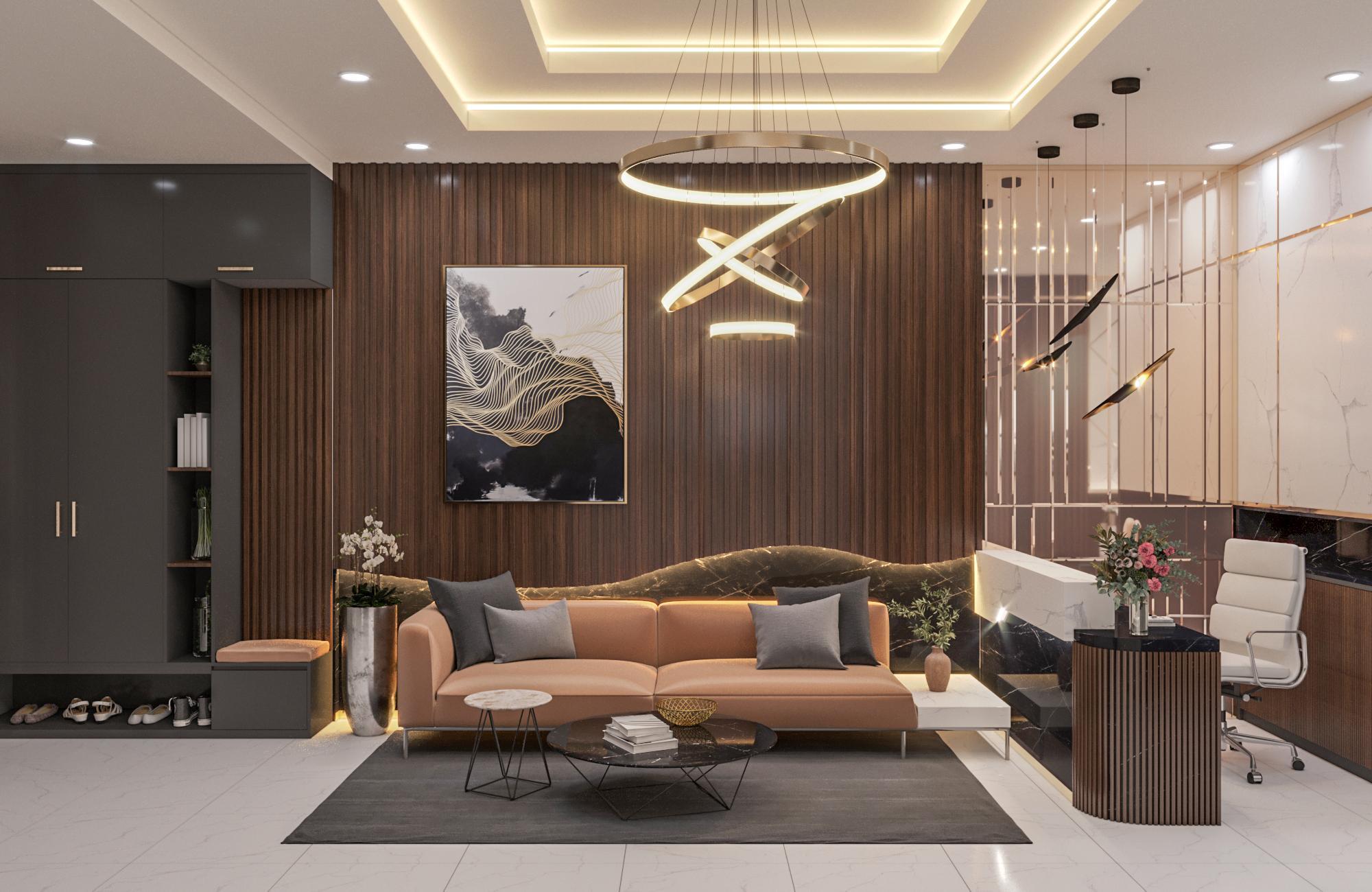 Thiết kế nội thất chung cư phong cách Mỹ