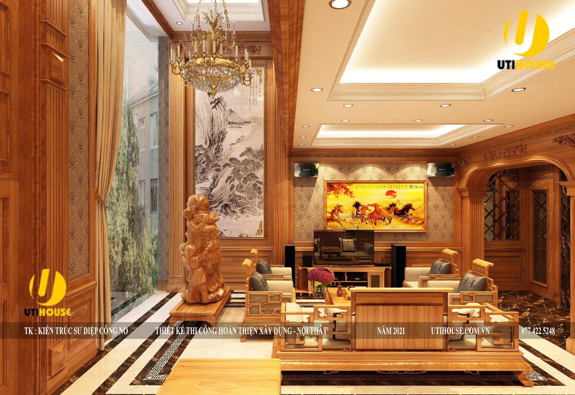 10+ mẫu thiết kế nội thất phòng khách biệt thự sang trọng, sáng tạo nhất 2021