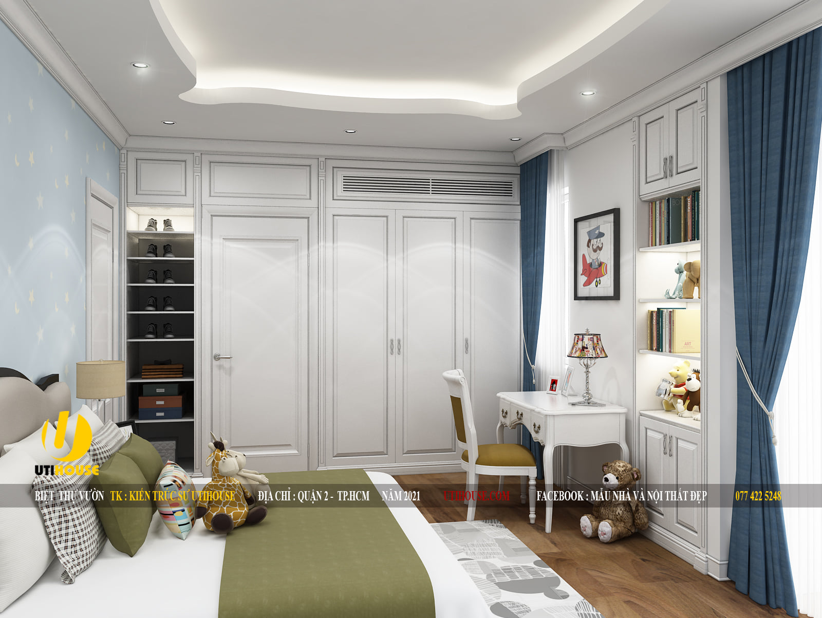 Mẫu thiết kế phòng ngủ sang trọng, hiện đại cho chung cư