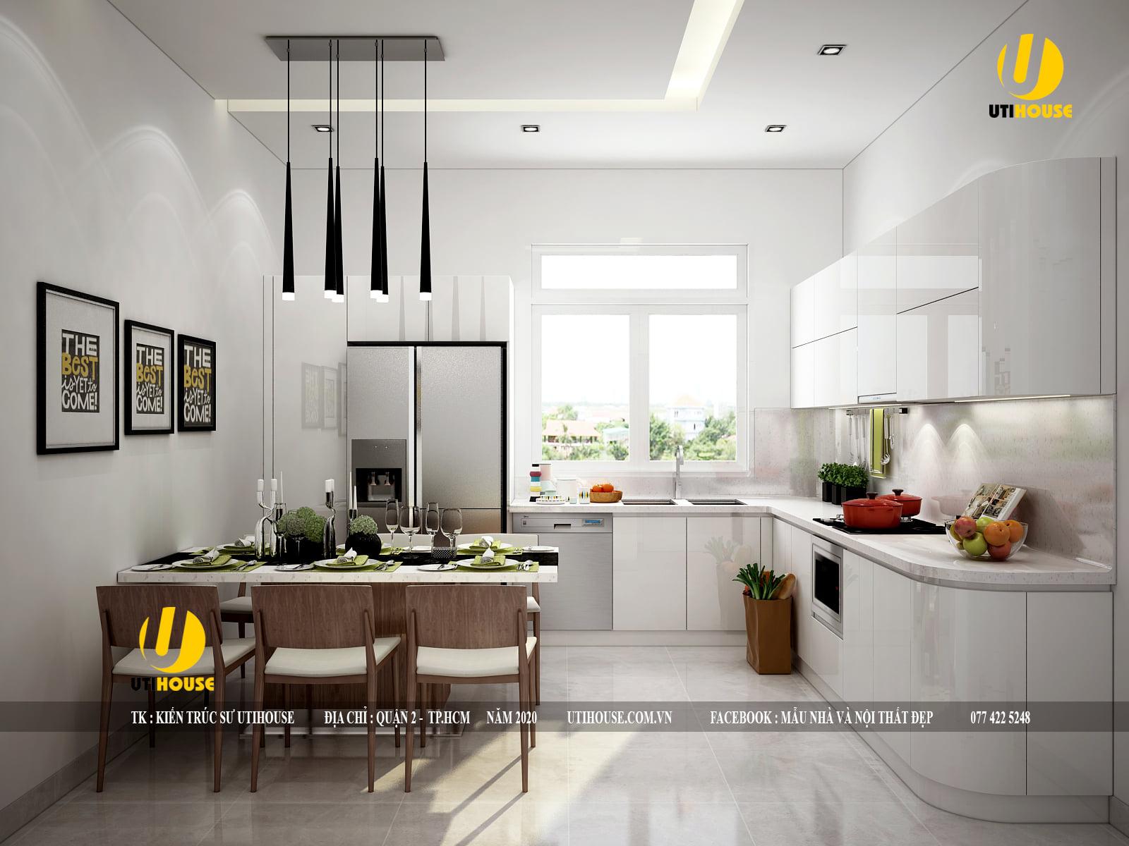 Ý tưởng thiết kế nội thất nhà bếp chung cư cực đẹp